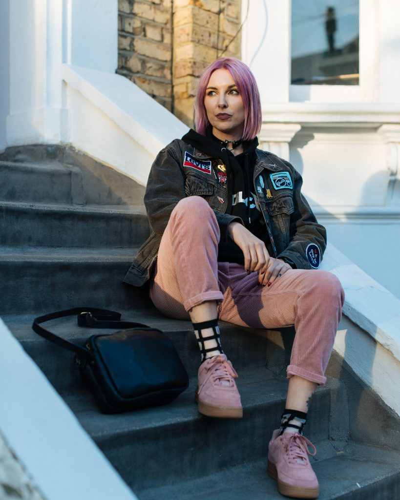 How I style my pink Nike Air Force 1's Kitty Cowell