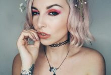 Make up: Orangey Pink Eyes and 90's vibes…
